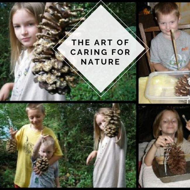 Pine cone craft teaches the art of caring for nature while being a fun craft for kids