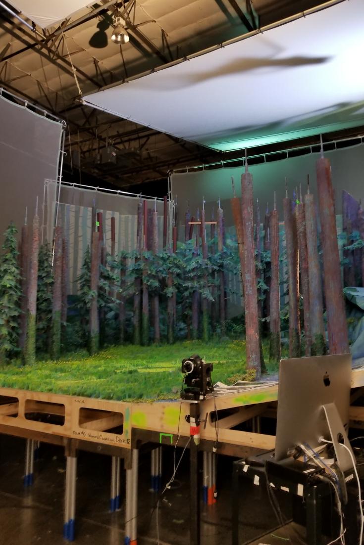 On the set of MISSING LINK at Laika Studios