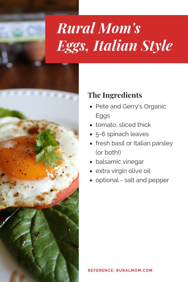 Celebrating National Egg Month with Farm Fresh Eggs, Italian Style