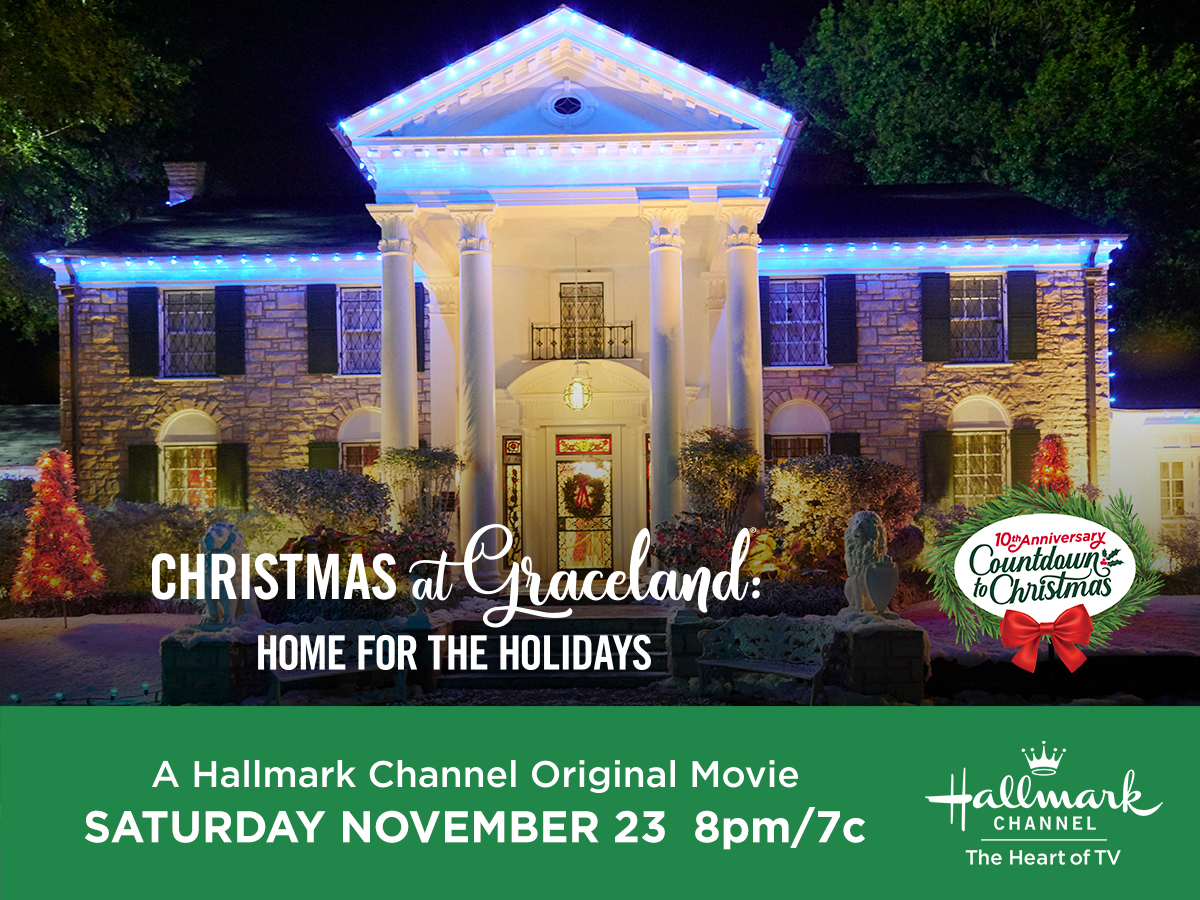 """Hallmark Channel's Premiere of """"Christmas at Graceland: Home for the Holidays"""" on Saturday, Nov. 23rd at 8pm/7c! #CountdowntoChristmas"""