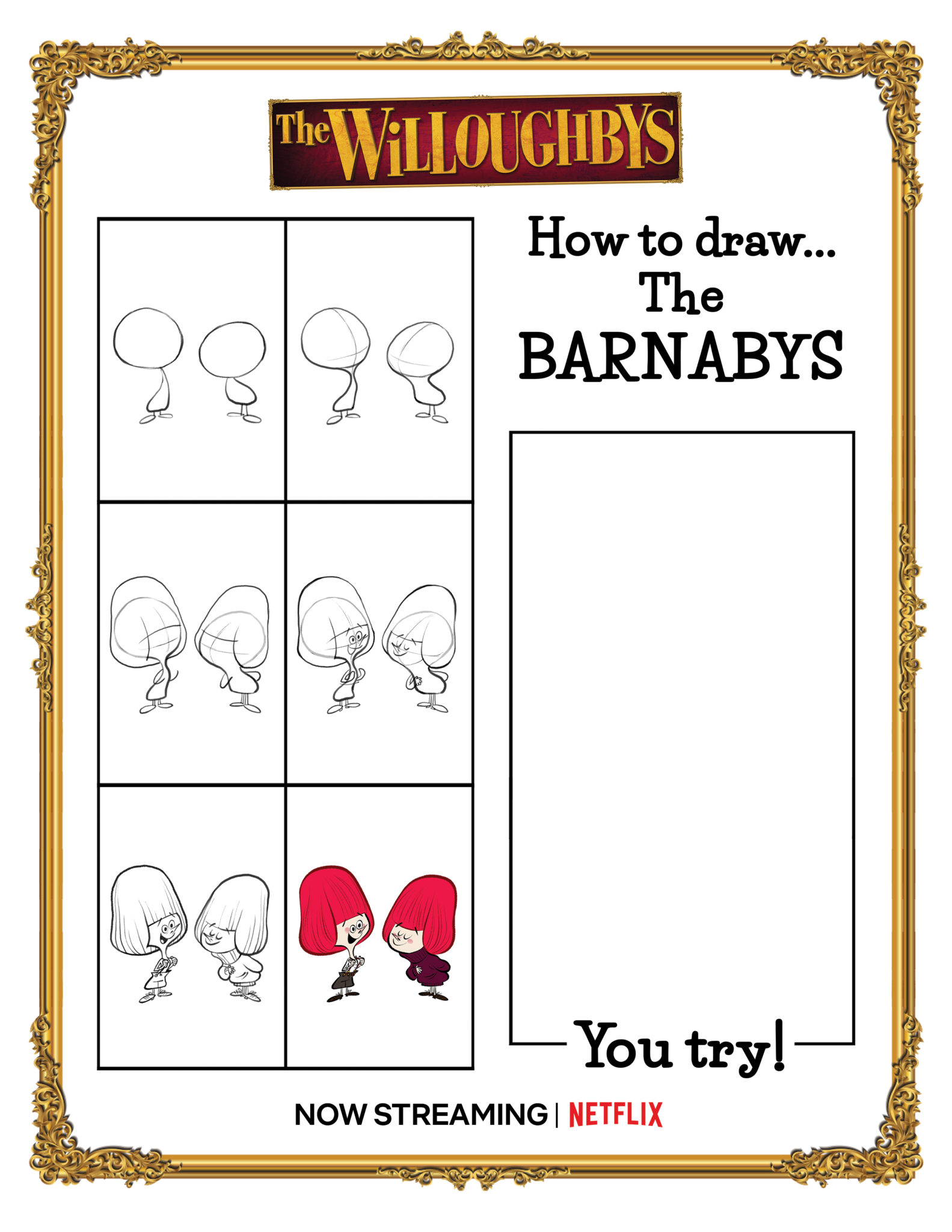 Learn How to Draw THE WILLOUGHBYS