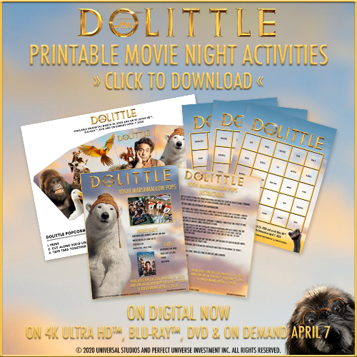 DOLITTLE Family Movie Night (and how to talk to animals!)